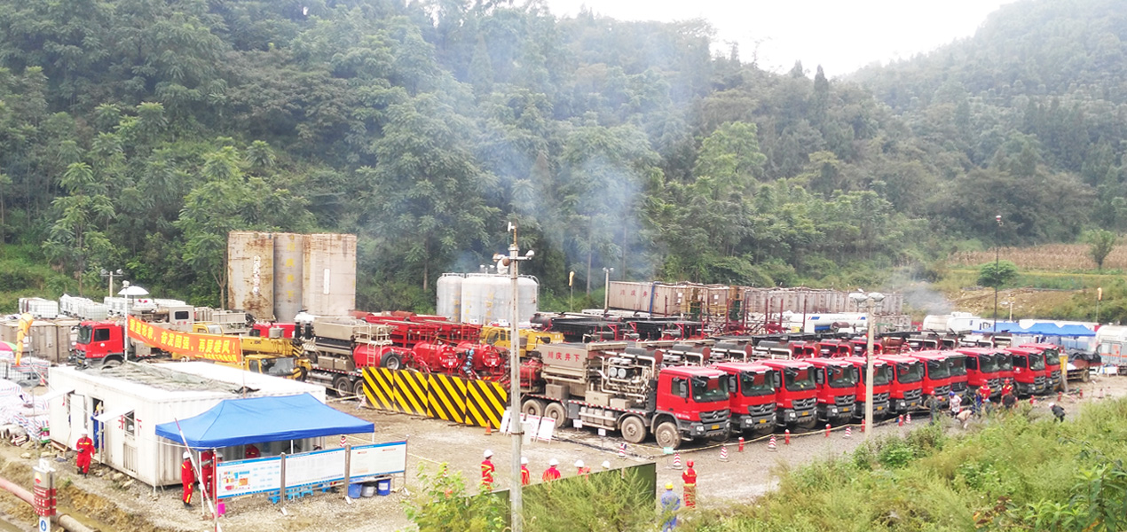 Jereh 2500 frac spread helps the shale gas operation in Sichuan,China