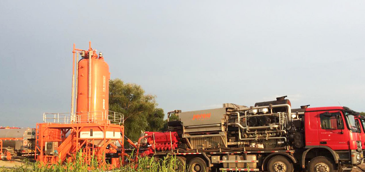 Jereh Truck Mounted CO₂ Sand Blender in Daqing,China