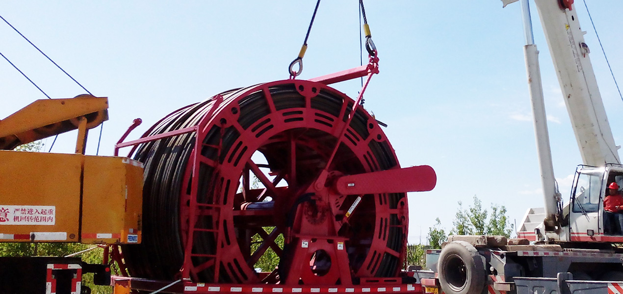 Coiled Tubing Reel at Operation Site